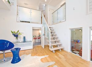 空間を有効活用したい スキップフロアの家