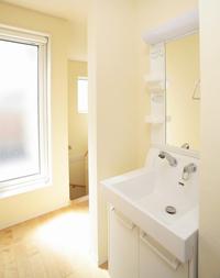 ▲2階にも洗面化粧台を置いて使いやすく