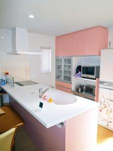 ▲家事が楽しくなる明るく爽やかなキッチン空間