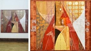 ▲京都市美術館 第76回 新制作展 新会員 「幻視(太陽を着る女)」