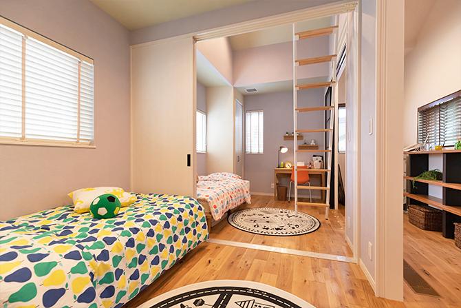 仕切り可能な子供部屋