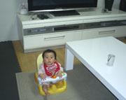 ▲赤ちゃんにも安心の天然無垢の床