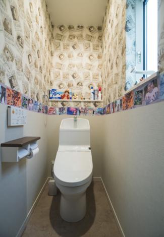 【エネージュ:堺市北区】トイレ/壁紙