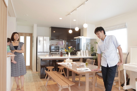 埼玉県さいたま市:屋上庭園/リビング