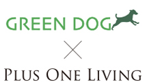GREEN DOG × Plus One Living ロゴ