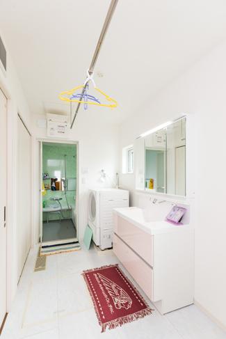 群馬県太田市:全館空調/洗面室
