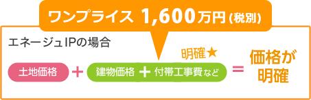 エネージュIPの場合 ワンプライス1,600万円