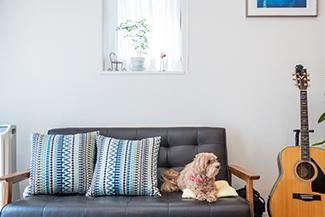 [千葉県流山市]ヤマト住建お客様宅の二世帯住宅の光が差し込む明るいリビング