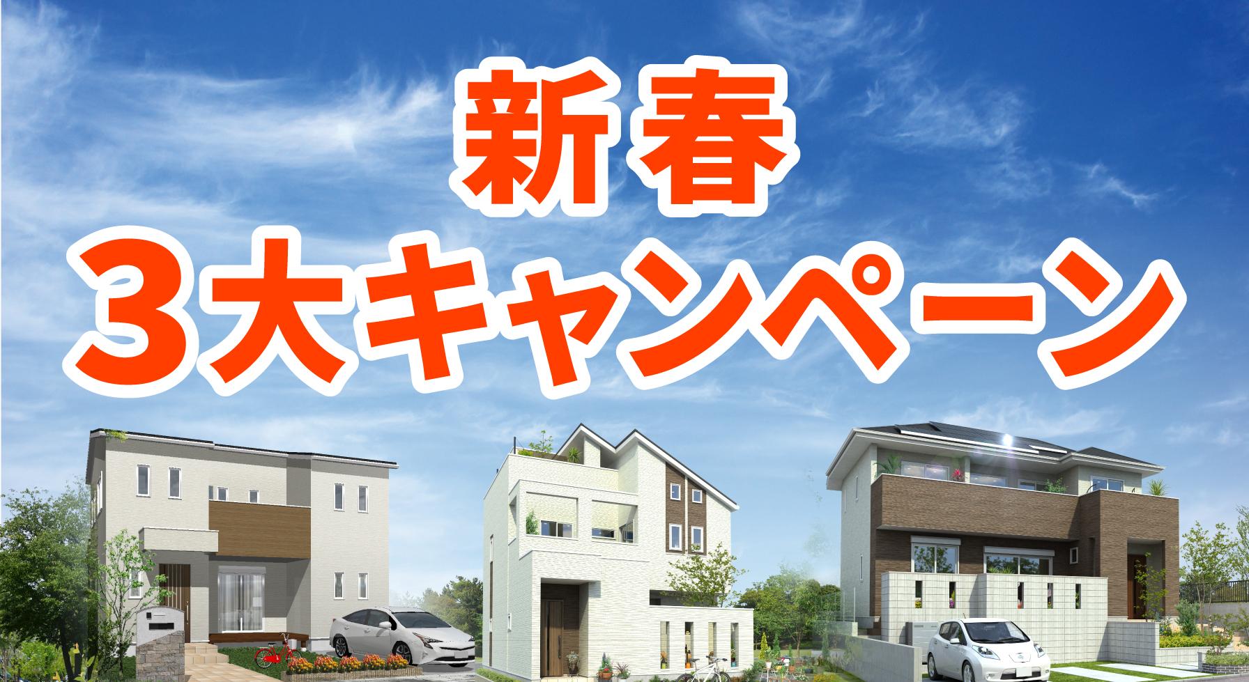 2019年新春3大キャンペーン