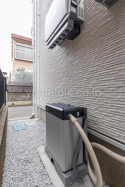 [神奈川県相模原市]ダブル断熱仕様でエアコン1台で全館空調するZEH(ゼロエネルギーハウス)ヤマト住建モデルハウスの家庭用蓄電池