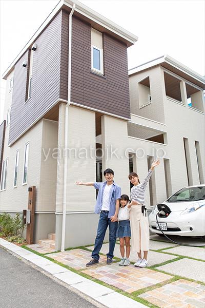 [愛知県一宮市]ダブル断熱仕様でエアコン1台で全館空調するZEH(ゼロエネルギーハウス)ヤマト住建モデルハウスの外観