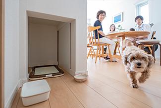 [千葉県流山市]ヤマト住建お客様宅の二世帯住宅のペット専用スペース