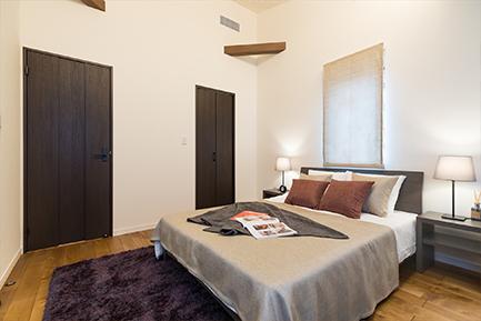 ヤマト住建 相模原住宅展示場スキップフロアの主寝室
