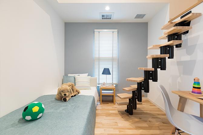 ロフト付きの子供部屋