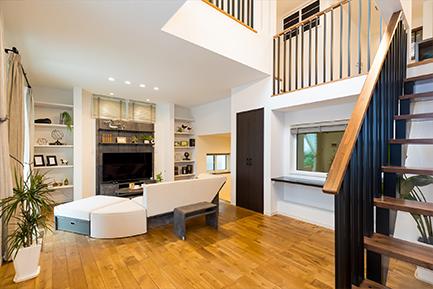 ヤマト住建 相模原住宅展示場の和室とリビング