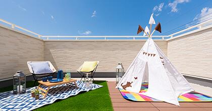 ハウス・オブ・ザ・イヤー・イン・エナジー10期連続受賞記念キャンペーンの商品の選べるプレゼントBは「屋上庭園つくり放題」です。