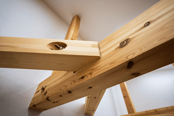 耐震住宅の組み立て