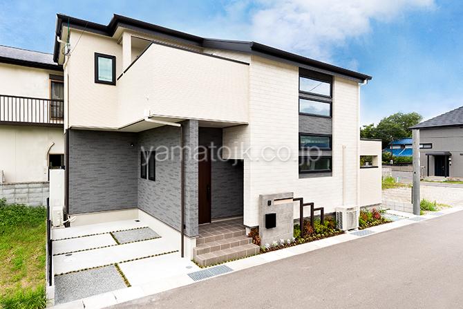 [大阪府泉南郡熊取町]高気密・高断熱でダブル断熱仕様のヤマト住建モデルハウスの外観